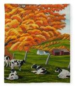 Fall On The Farm Fleece Blanket