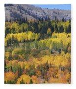 Fall On The Greys River Fleece Blanket