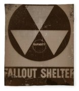 Fall Out Shelter Fleece Blanket