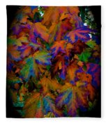 Fall Painting By Mother Nature Fleece Blanket