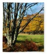Fall Pasture Fleece Blanket