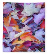 Fall Purples  Fleece Blanket