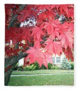 Fall Reds Fleece Blanket