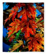 Fall Reds Fleece Blanket
