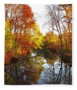 Fall Reflected Fleece Blanket