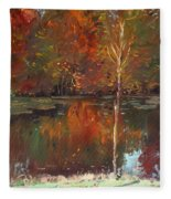 Fall Reflection Fleece Blanket