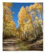 Fall Road Fleece Blanket