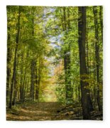 Fall Trail Fleece Blanket