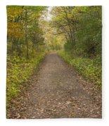 Fall Trail Scene 48 Fleece Blanket