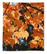 Fall Tree Art Prints Orange Autumn Leaves Baslee Troutman Fleece Blanket