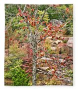 Fall Tree With Intense Colors Fleece Blanket