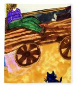 Fall Wagon Ride Fleece Blanket