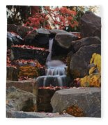 Fall Waterfall Fleece Blanket