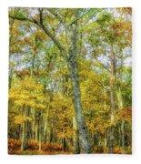 Fall Yellow Fleece Blanket