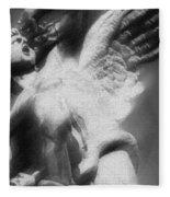 Fallen Angel Vertical Fleece Blanket