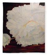 Fallen Begonia Fleece Blanket