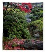 Fallen Leaves Fleece Blanket