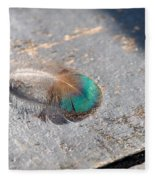 Fallen Peacock Feather Fleece Blanket