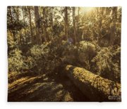 Fallen Tree In Foliage Fleece Blanket