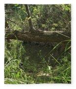 Fallen Tree In Peters Canyon Fleece Blanket