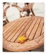 Fallen Yellow Autumn Leaf Fleece Blanket
