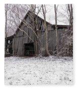 Falling Barn Fleece Blanket