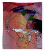 Falling Boy Fleece Blanket