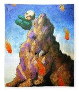 Falling Off The Mountain Fleece Blanket