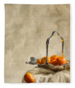 Falling Oranges Fleece Blanket
