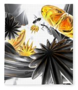 Falling Stars Abstract Fleece Blanket