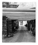 Fallingwater Driveway Fleece Blanket