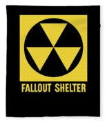 Fallout Shelter Sign Fleece Blanket