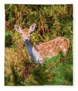 Fallow Deer 2 Fleece Blanket