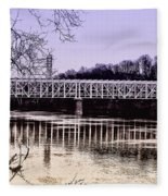 Falls Bridge Fleece Blanket