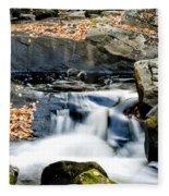 Falls In Fall Fleece Blanket