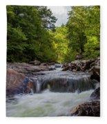 Falls In The Mountains Fleece Blanket