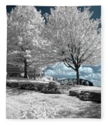 Falls Of The Ohio State Park Fleece Blanket