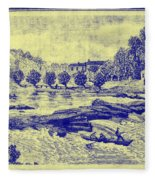 Falls Of The Schuylkill And Fort St Davids 1794 Fleece Blanket