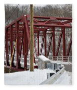 Falls Village Bridge 1 Fleece Blanket