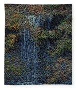 Falls Woodcut Fleece Blanket