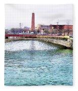 Fallswalk And Shot Tower Fleece Blanket