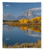 Falltime At Oxbow Bend Fleece Blanket