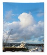 Falmouth Docks Cornwall Fleece Blanket