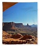 False Kiva Moab Utah Fleece Blanket
