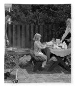 Family Bbq, C.1960s Fleece Blanket