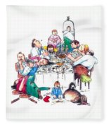 Family Dinner Fleece Blanket