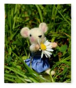 Family Mouse On The Spring Meadow Fleece Blanket