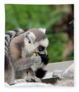 Family Of Lemurs Fleece Blanket