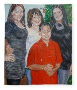 Family Portrait Fleece Blanket