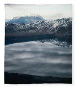 Famous Mountain Askja In Iceland Fleece Blanket